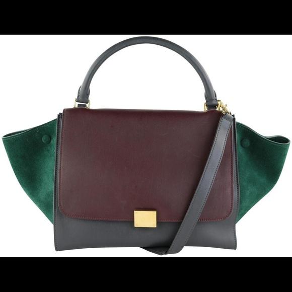 Céline Trapèze Calfskin Suede Tri-Color Bag